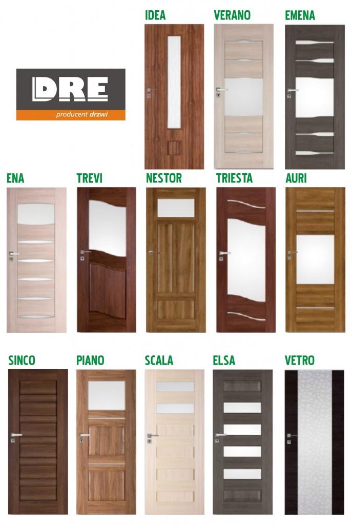 wzory drzwi drewnianych marki dre
