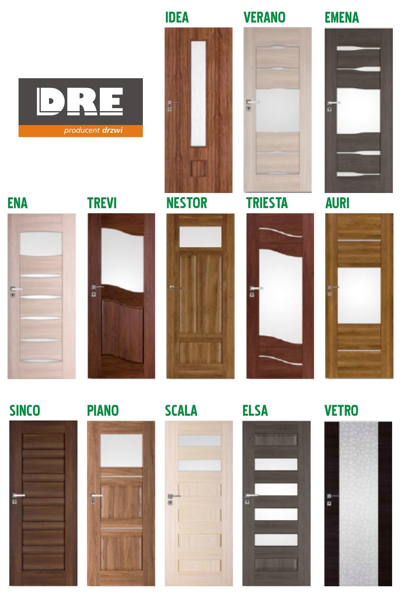 Tylko na zewnątrz Drzwi wewnętrzne drewniane Szczecin - Styl-Dom AF33