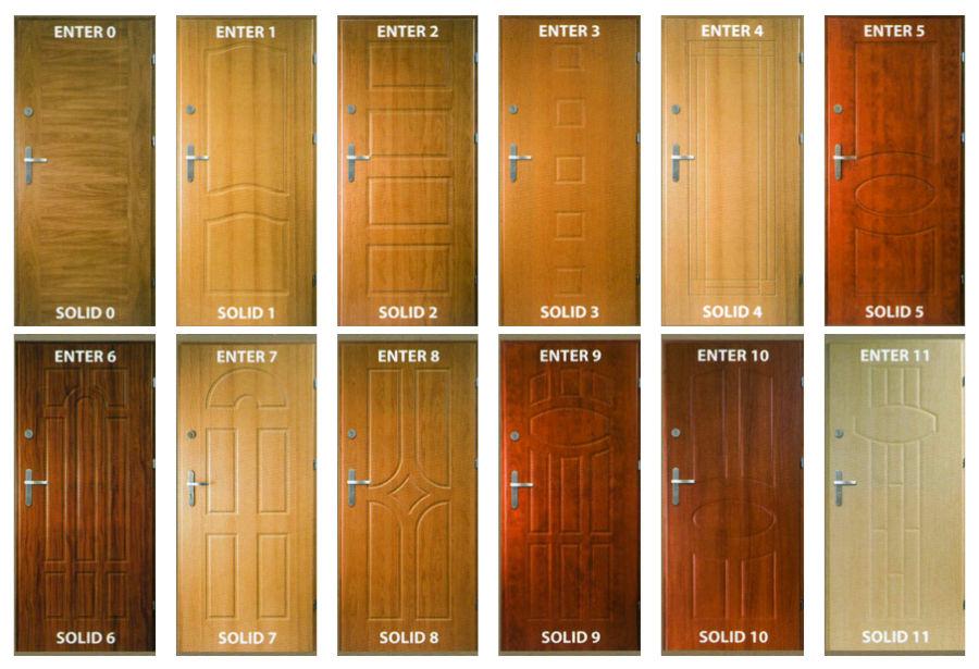 paleta barw drzwi drewnianych tłoczonych