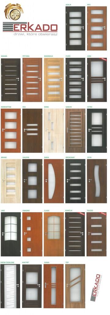 wzory drzwi drewnianych firmy erkado