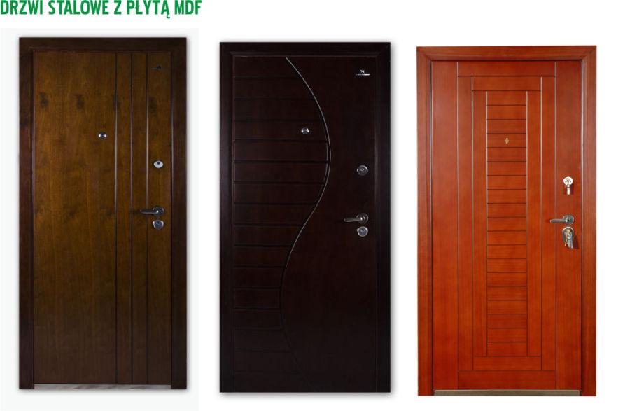 drzwi metalowe labradoor z płytą mdf