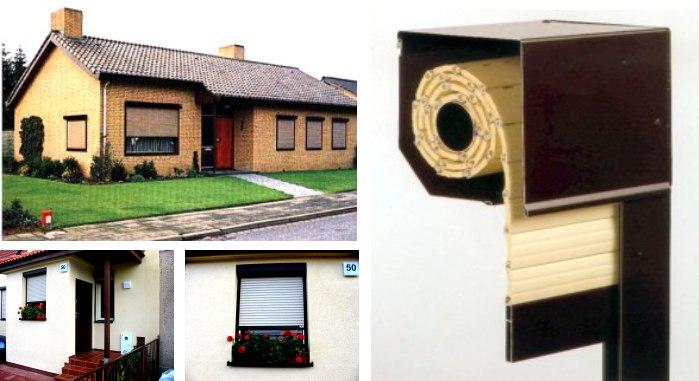 rolety zewnętrzne w jednorodzinnym domy