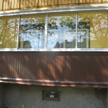 Balkon zabudowany szkłem przesuwnym Szczecin