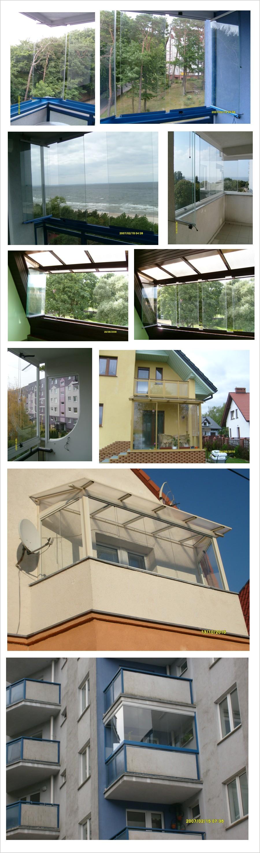 bezramowa zabudowa balkonów szybami