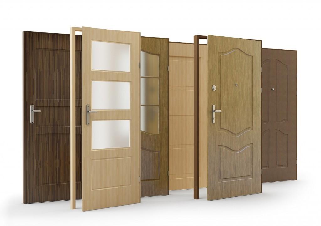 drzwi drewniane zewnętrzne w różnych kolorach