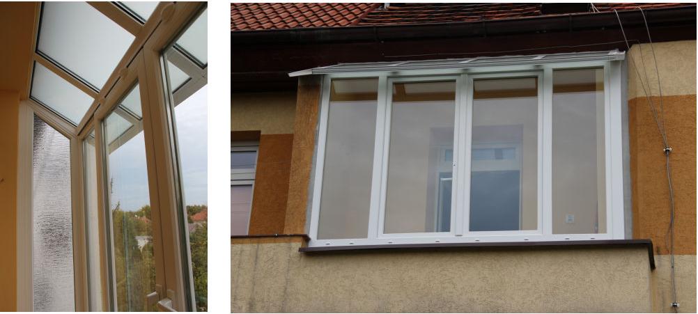 Zabudowa balkonu oknami PCV