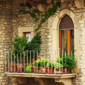Balkon niczym z Romea i Julii