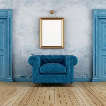 drzwi z drewna stylizowane niebieskie