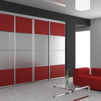 Designerskie wnętrze wraz z modną szafą przesuwną