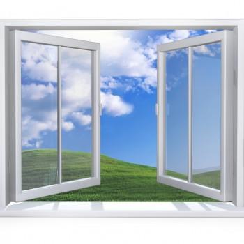 Widok z białego okna pcv Szczecin