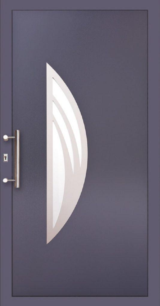 Bordowe drzwi PCV zewnętrzne Szczecin