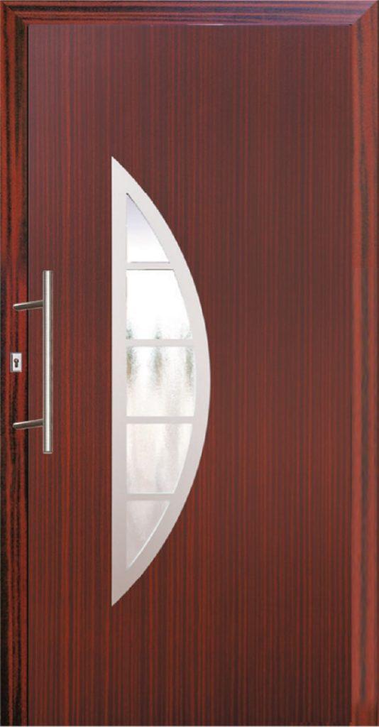 Bordowe drzwi zewnętrzne PCV Szczecin