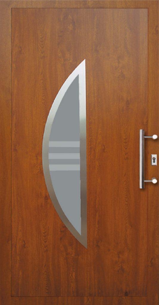 Drzwi ciemne PCV zewnętrzne Szczecin