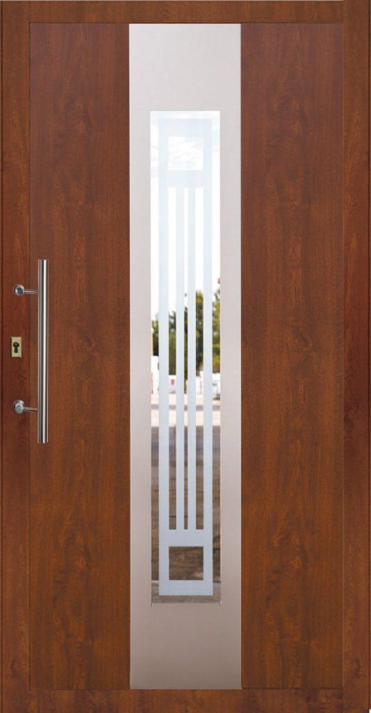 Drzwi zewnętrzne PCV brązowe Szczecin