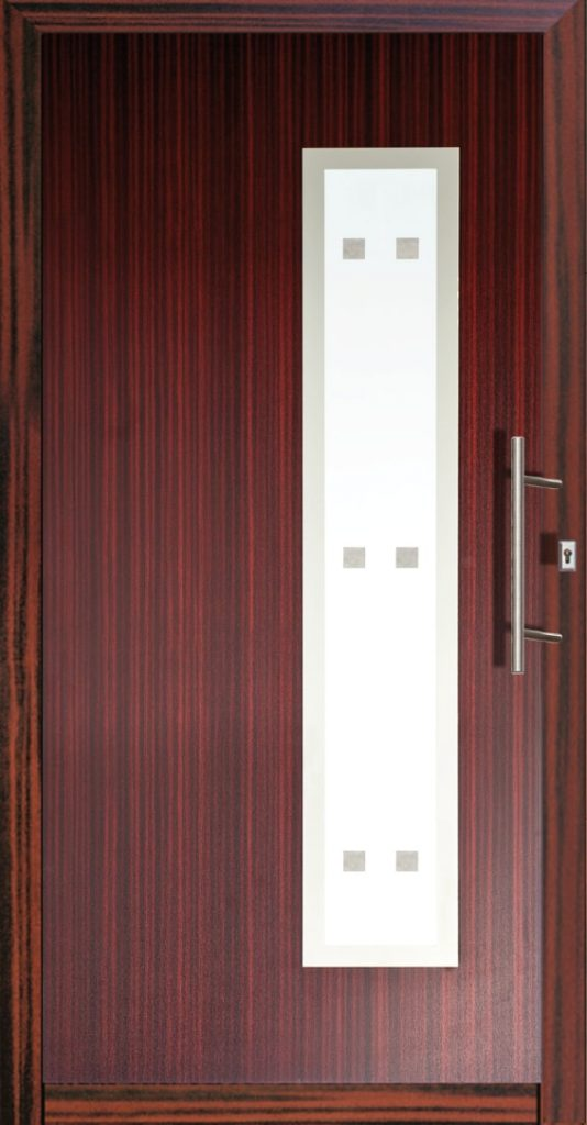 Bordowe drzwi zewnętrzne Szczecin