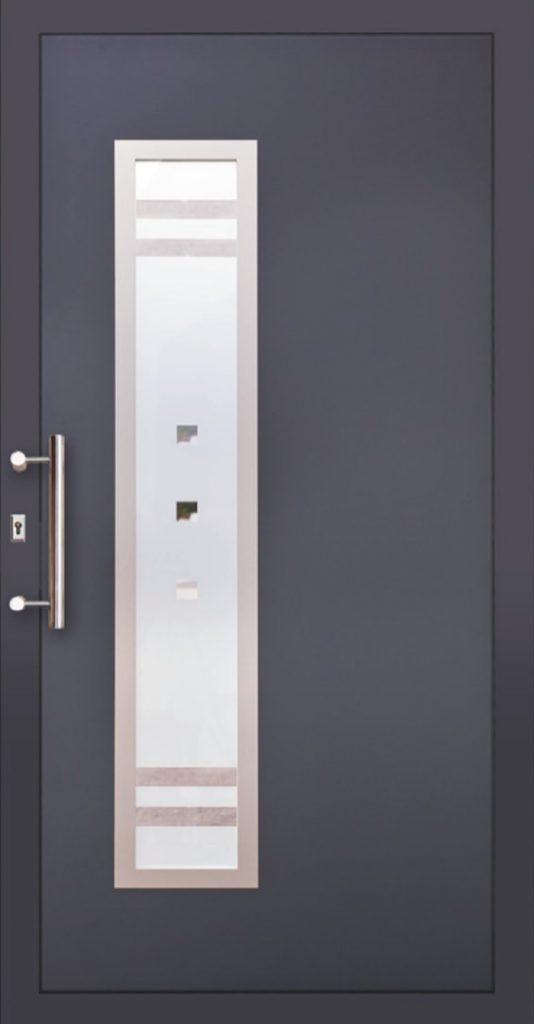 Drzwi PCV zewnętrzne ciemne Szczecin
