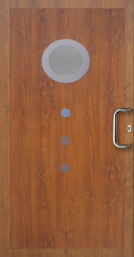 Drzwi zewnętrzne PCV z oknem Szczecin