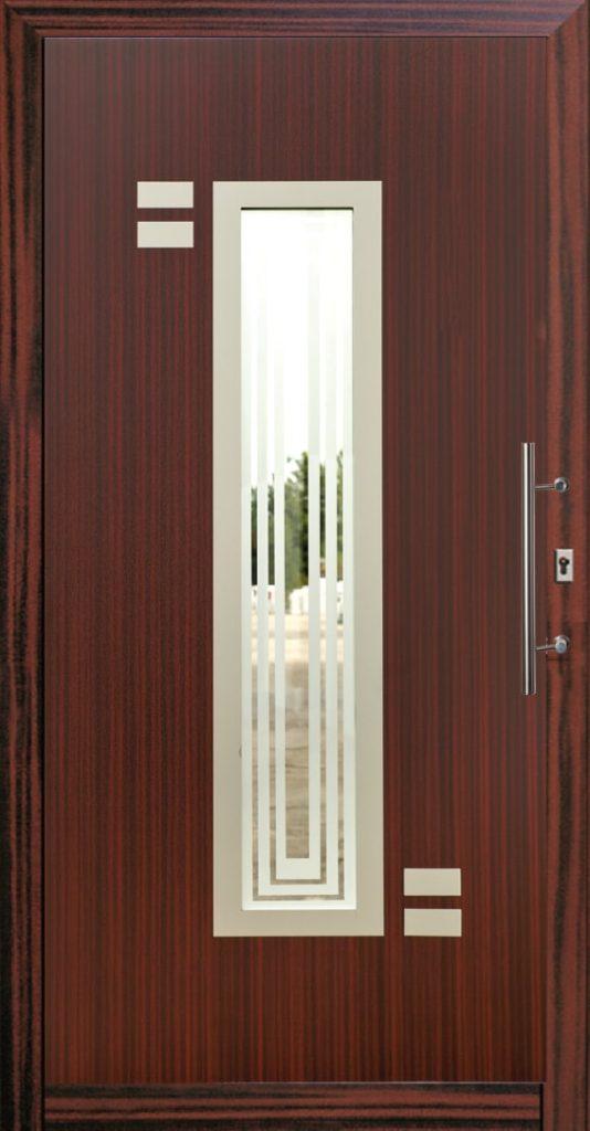 Szare drzwi zewnętrzne Szczecin
